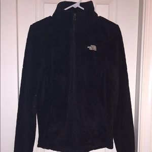 women's size small black zip up north face
